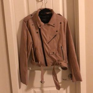 Dusty Rose Leather Jacket